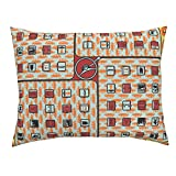 Roostery Highways Standard Knife Edge Pillow Sham Road Trip Bingo! by Thirdhalfstudios Natural Cotton Sateen Made