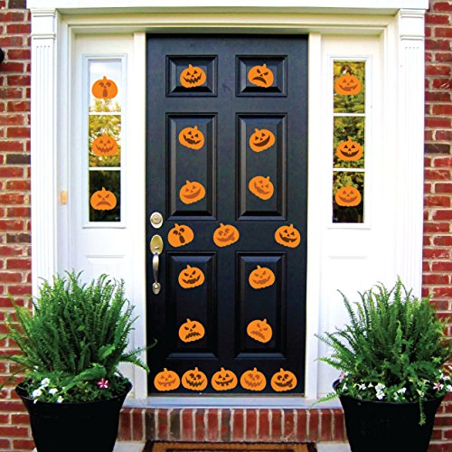 (Halloween Pumpkin Jack o'lantern Party Decorations Wall Decal Sticker Window Decor Scary Removable and Reusable (24 Decals Each 6