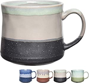 Bosmarlin Large Stoneware Coffee Mug, Big Tea Cup for Office and Home, 21 Oz, Dishwasher and Microwave Safe, 1 PCS (Grey)