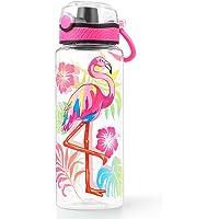 Cute Water Bottle for School Kids Girls, BPA FREE Tritan & Leak Proof & Easy Clean & Carry Handle, 23oz/ 680ml (Flamingo…