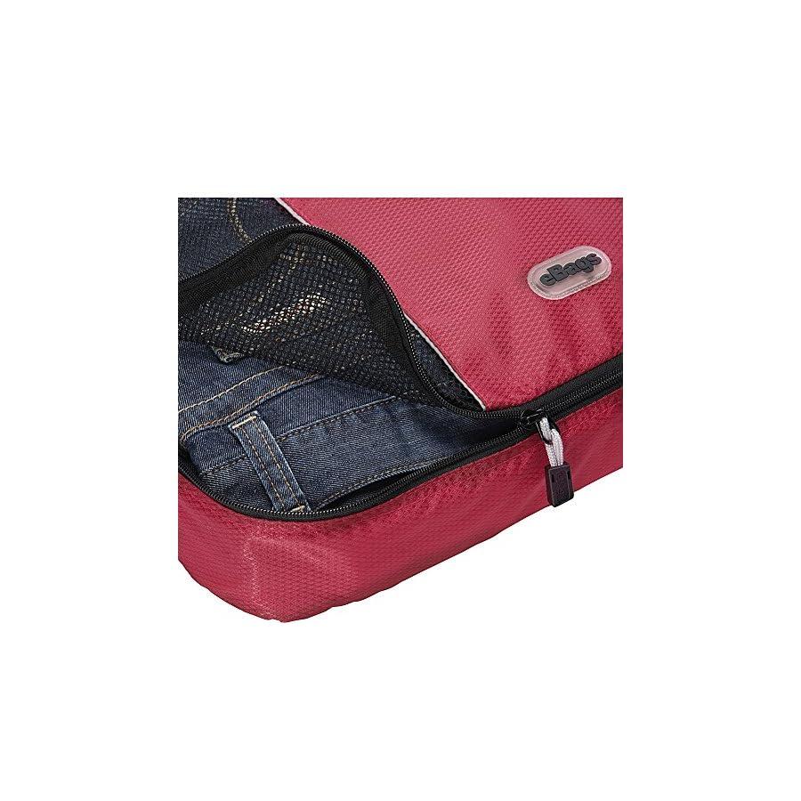 eBags Packing Cubes for Travel 4pc Classic Plus Set (Titanium)