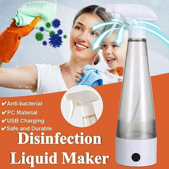 FANGX 350ML Desinfectante hogar Que Hace la máquina,Portátil Generador De Hipoclorito De Sodio Hogar Desinfección Generador de Agua: Amazon.es: Hogar