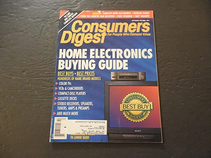 Consumers Digest Sep/Oct 1994 Home Electronics Guide (What A