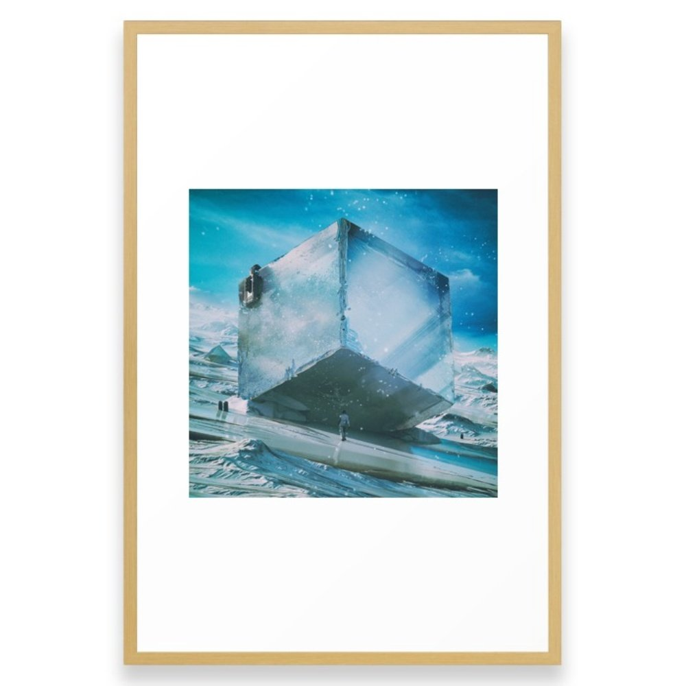 Society6 PRECIPICE (everyday 03.15.16) Framed Print Conservation Natural LARGE (Gallery)
