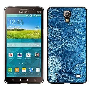 Samsung Galaxy Mega 2 / SM-G750F / G7508 Único Patrón Plástico Duro Fundas Cover Cubre Hard Case Cover - Flowers Pattern Texture Cold Winter Glass