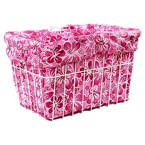 Cruiser Candy Reversible Bike Basket Liner (Pink Hawaiian)