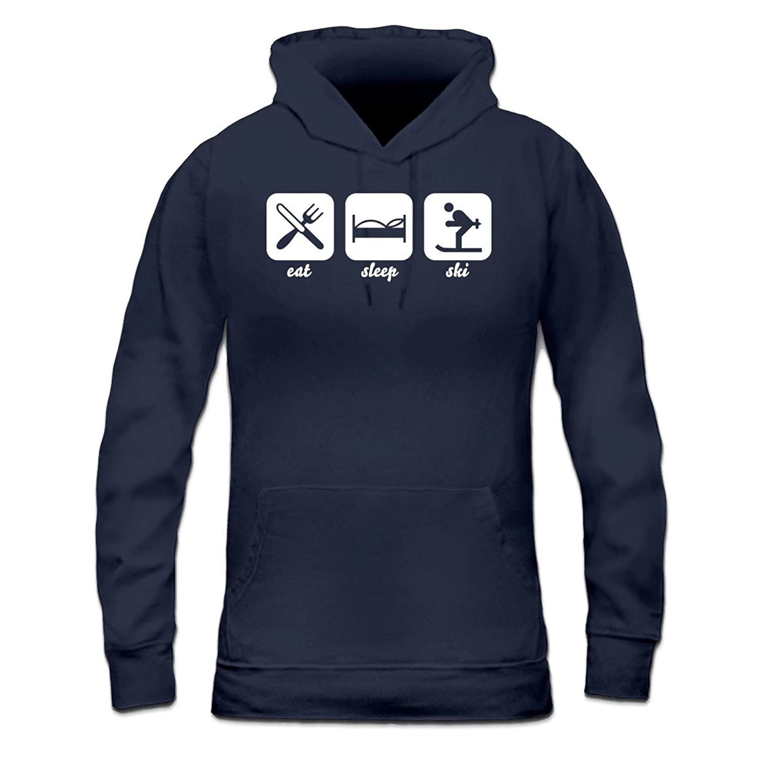 Eat Sleep Ski Frauen Kapuzenpullover by Shirtcity