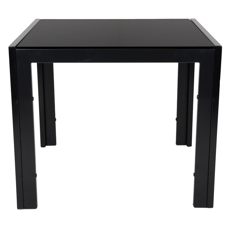 modern black glass square corner tea coffee side table living room