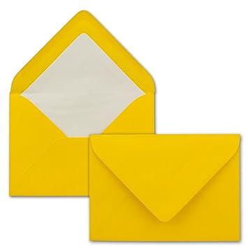 Farbige Kuverts in DIN B6 Format 125 x 176 mm Serie FarbenFroh/® by GUSTAV NEUSER/® 12,5 x 17,6 cm Seidenfutter Nassklebung Briefumschl/äge in Naturweiss mit wei/ßem Innenfutter 25 St/ück