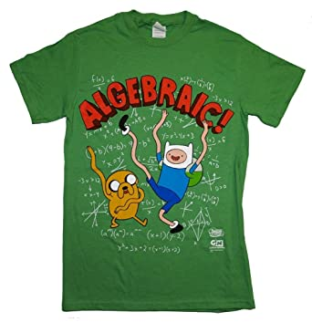 b5326cb1d86 Image Unavailable. Image not available for. Color  Adventure Time Algebraic  Finn And Jake T-shirt Large