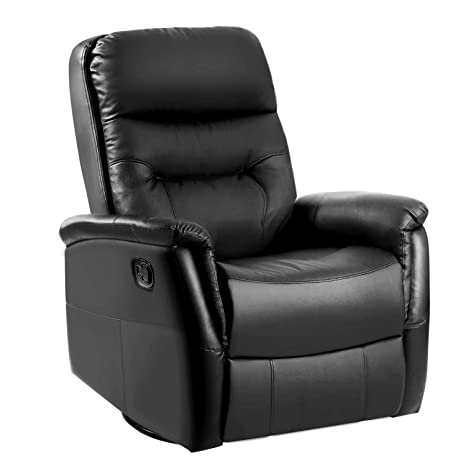 Swell Lentia 3600 Swivel Leather Manual Recliner Armchair Rocking Reclining Chair 87 X 75 X 110 Cm Black Alphanode Cool Chair Designs And Ideas Alphanodeonline