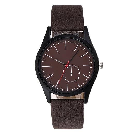 Kinlene Relojes baratos ,Línea analógica de correa de cuero para hombres Sra reloj de cuarzo reloj elegante (A): Amazon.es: Relojes