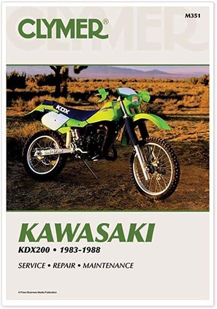 1983-1988 Kawasaki KDX 200 KDX200 CLYMER REPAIR MANUAL M351