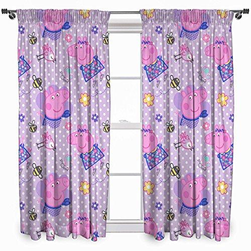 Peppa Pig Kids Happy Curtains 72'' Drop (Set of 2) by Peppa Pig