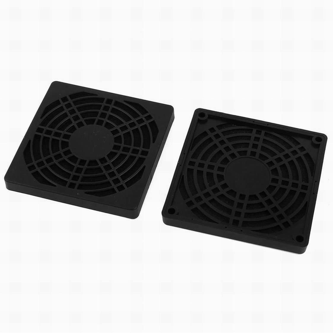 Fuxell 2 Pcs Dustproof Dust Filter Guard Grill Cover for 90mm PC Case Fan