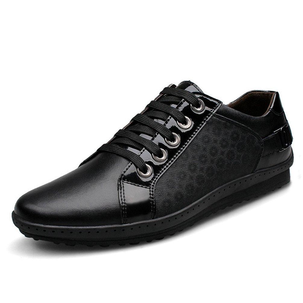 XIGUAFR Homme Chaussure en Cuir de Marche Basse Chaussure de Ville au Loisir Simple