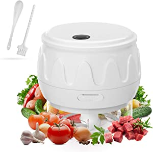 Electric Mini Garlic Chopper, Food Slicer and Chopper, Portable Garlic Blender Mini Chopper Food Processor for Pepper Chili Vegetable Nuts Meat (White 100 ml)