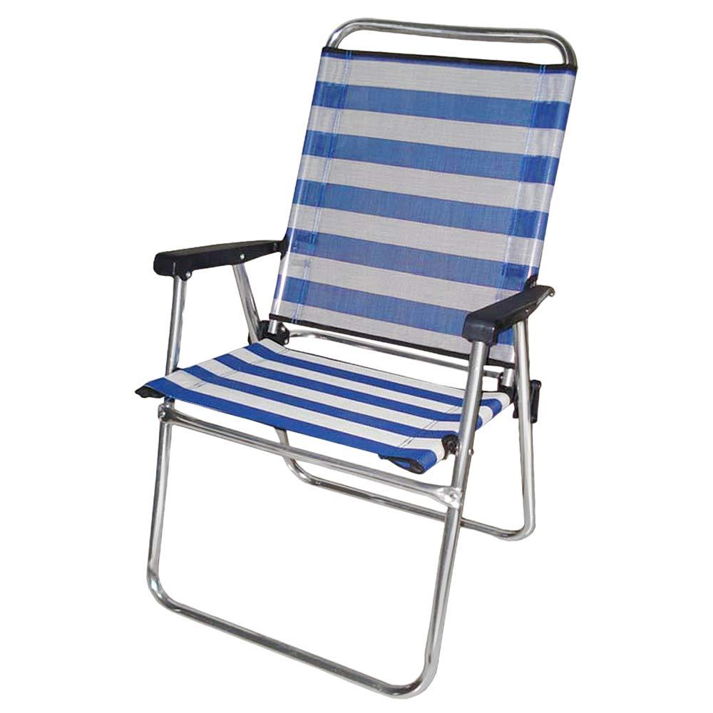 Silla Plegable para Playa o Camping Azul de Aluminio Garden ...
