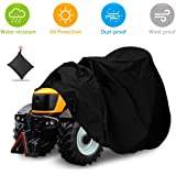 """NASUM Outdoors Lawn Mower Cover -Tractor Cover Fits Decks up to 54"""", Riding Lawn Mower Cover, Protection Universal Fit for Your Ride-On Garden Tractor, with Drawstring & Storage Bag(72x54x46in)"""