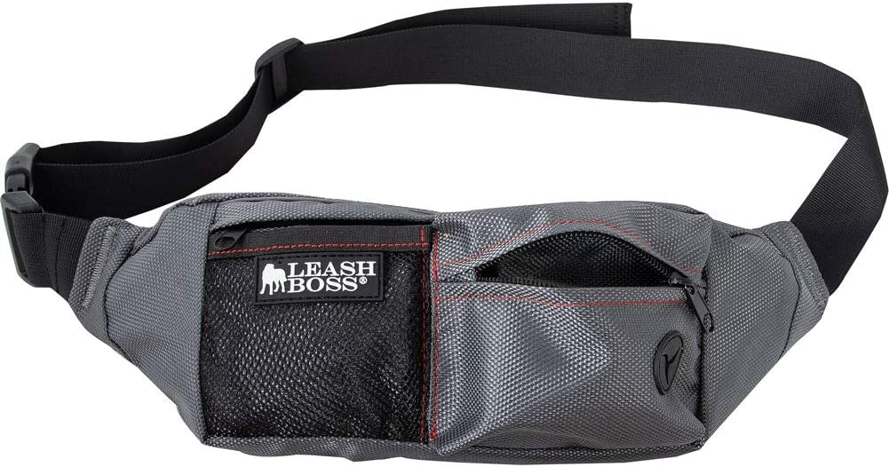 Leashboss PackUp Pouch Dog Treat Training Waist Belt, Storage Fanny Pack and Waste Bag Dispenser
