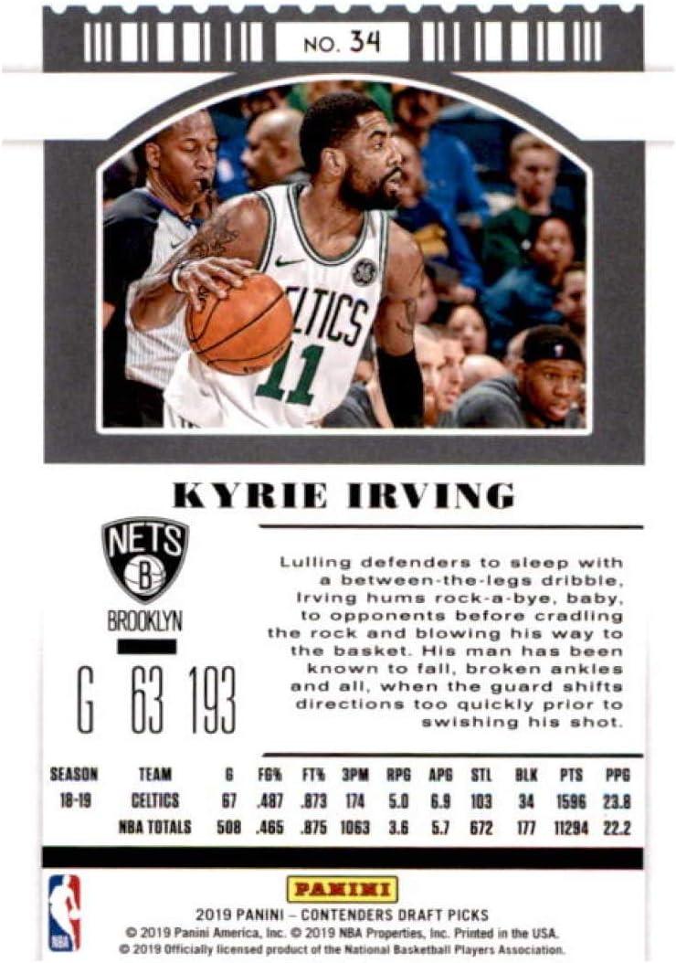 2019-20 Panini Contenders Draft Picks Season Ticket Variation #34 Kyrie Irving Brooklyn Nets Basketball Card