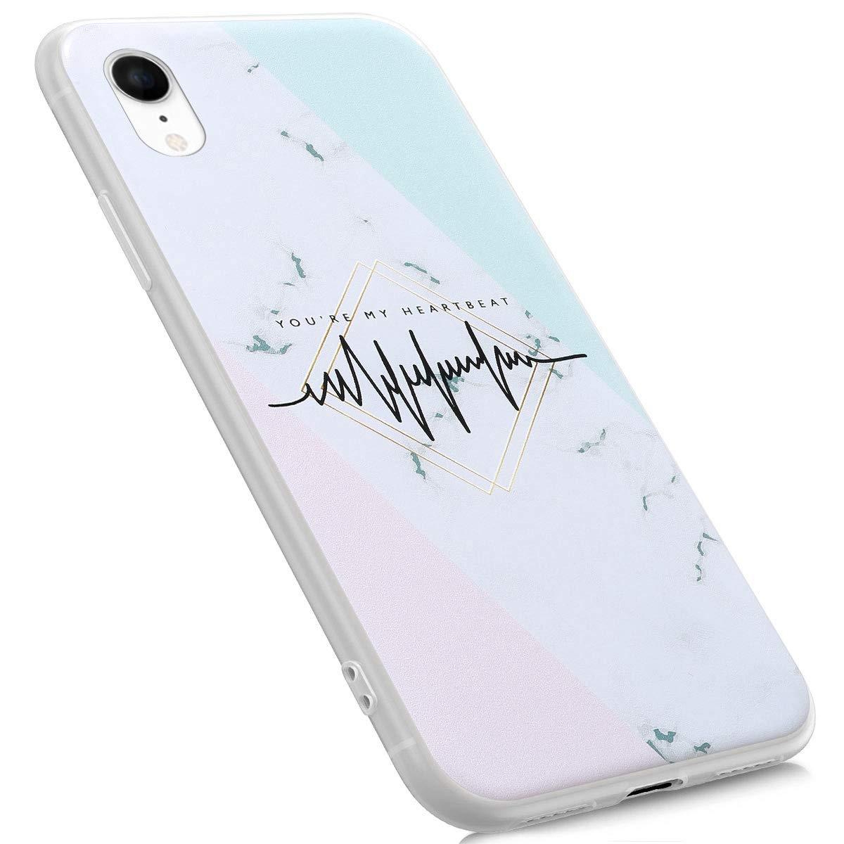 Felfy Marmo Cover Compatibile con iPhone XR Custodia Silicone Morbido,Compatibile con iPhone XR Cover Marmo Silicona Bianco Case Ultra Slim Trasparente Bumper Antiurto TPU Cover.Marmo#04