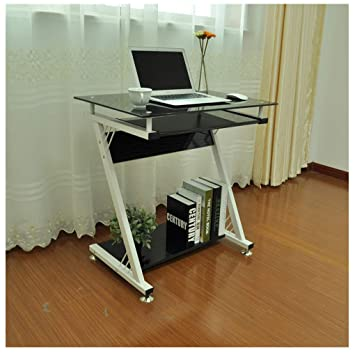 Amazon.com: Mesa de trabajo Midress de cristal para ...