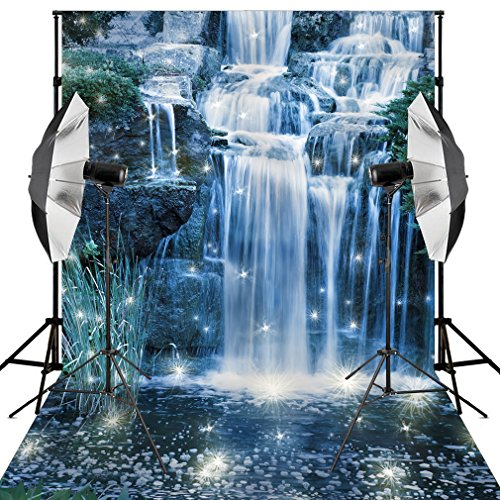 Kooer 5X7ft Fairy tale waterfall Precipice Dandelion Children's Photography Backdrops for (Fall Dance Decorations)