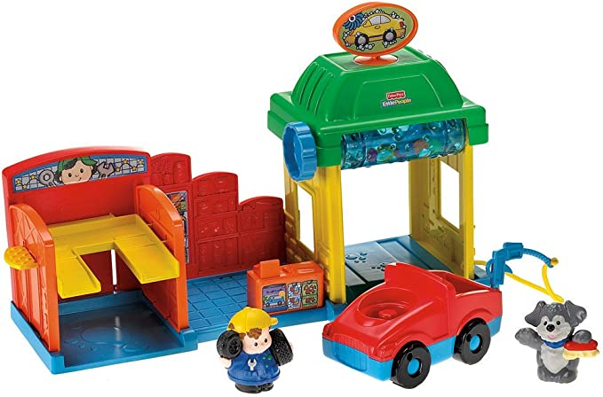 Fisher-Price - Little People - Lavadero de coches con accesorios [Importado de Alemania] (Mattel): Amazon.es: Juguetes y juegos