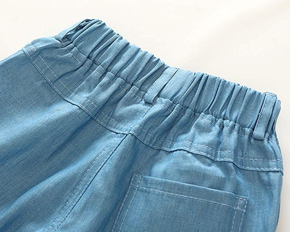 Fairy Baby Kids Little Boys Summer Outfits Set Beach Print Button Down Shirt+Shorts Pant