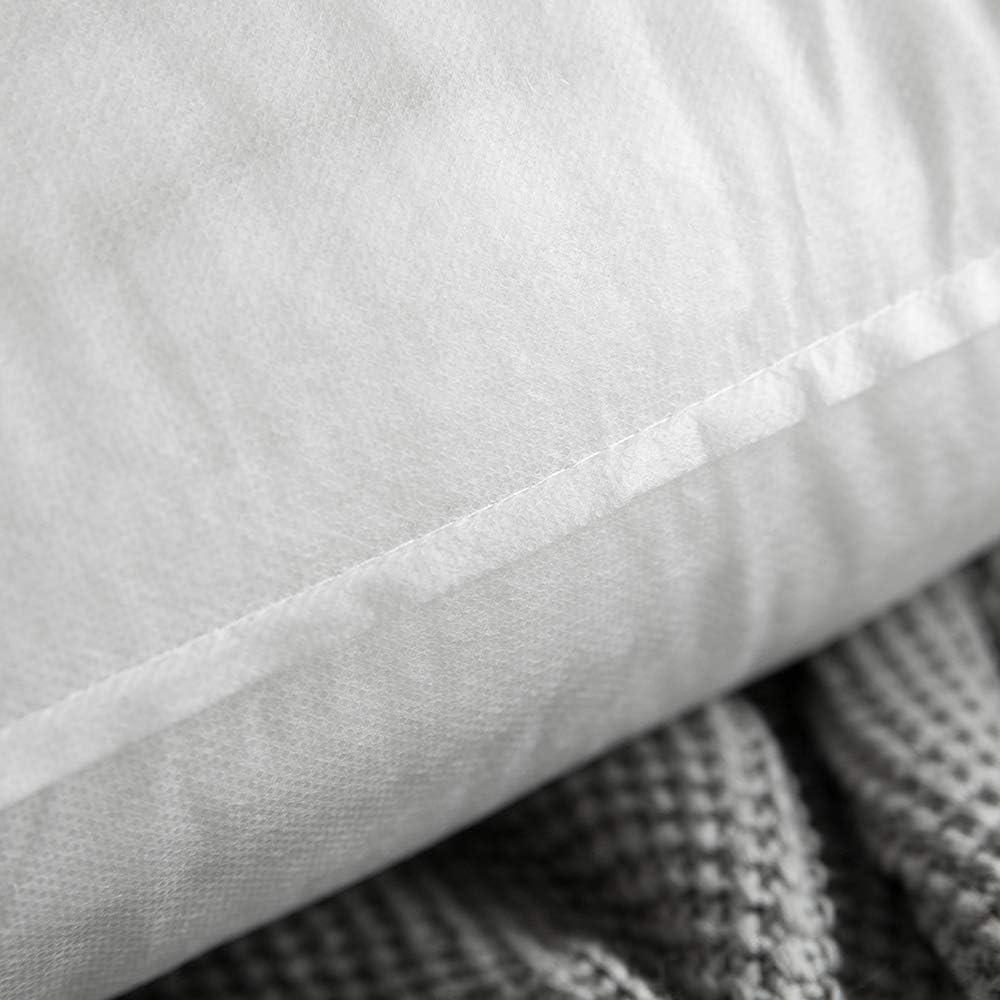 MIULEE Oreiller Ferme Sommeil Doux Coussin de la PP de Coton Comfortable Hypoallergique pour Lit Sofa Bureau Chambre /à Coucher pour Lit Sofa Bureau Chambre /à Coucher 30x50 cm,Lot de 4 Pure