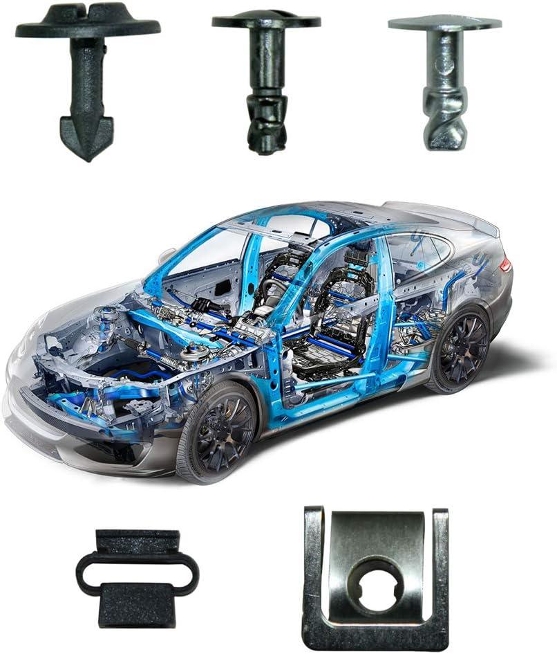 Auto Motorschutz Zierbolzen Clip Motorschutz Pan Fastener Rivet Clips f/ür A-udi VW 60PCS