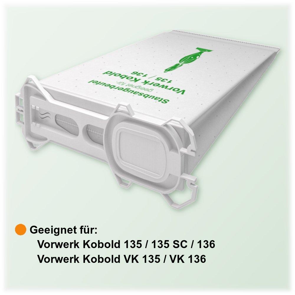 18 bolsas de fieltro para aspiradora Vorwerk Kobold 135//136//135SC//VK135//VK 136 McFilter