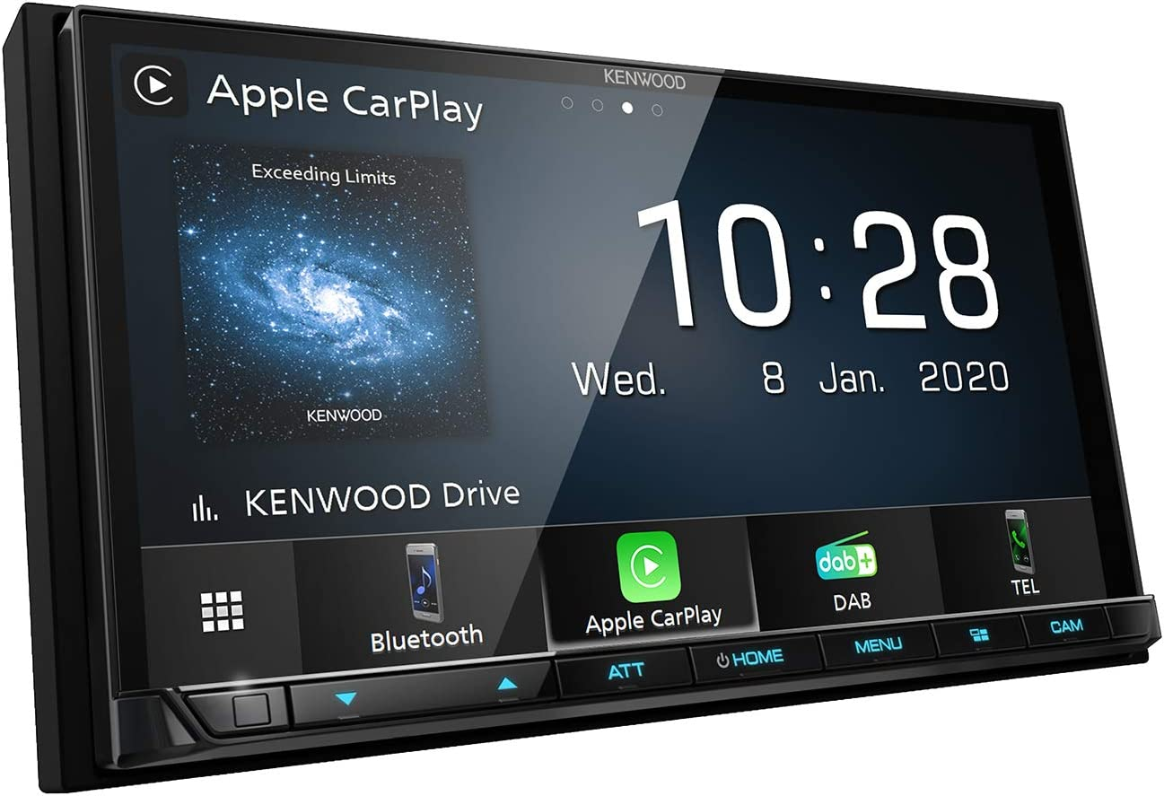 Kenwood Car Audio DMX7520DABS Digital Media Receiver Wired Apple Car Play, Android Auto, Bluetooth & DAB+