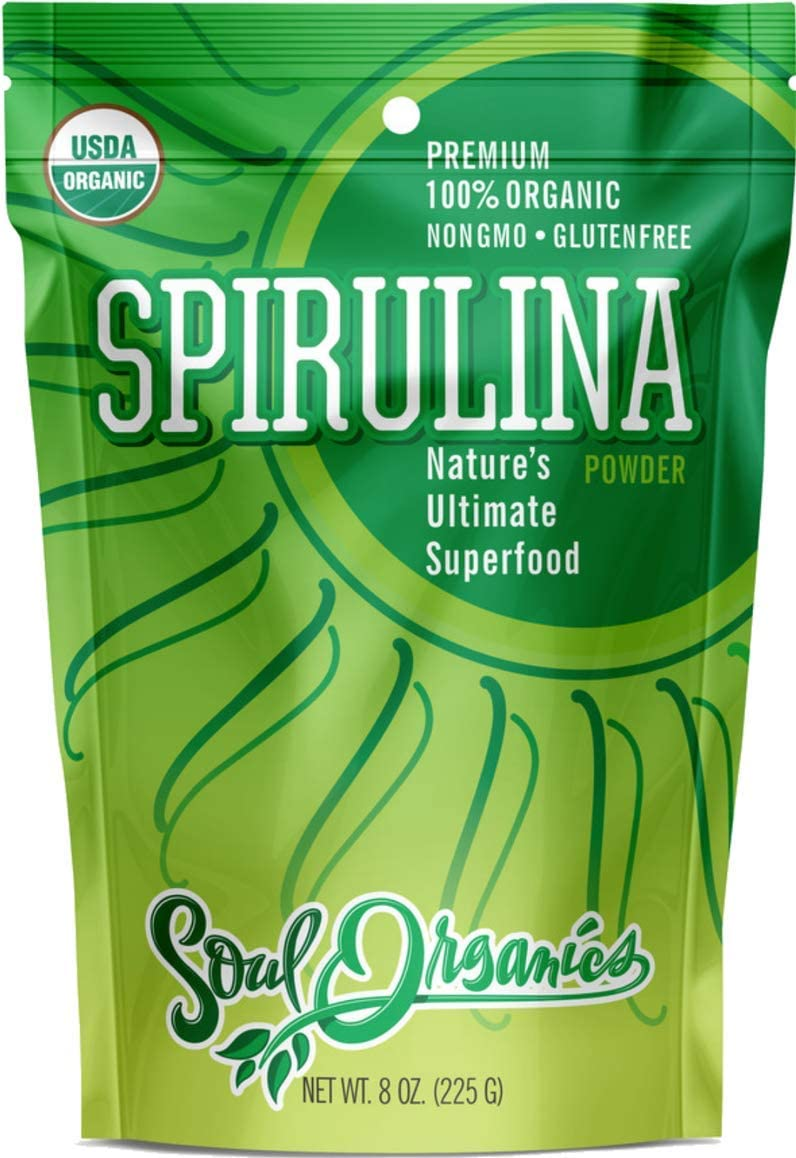 Organic Spirulina Powder – USDA Organic Certified – Premium Blue Green Algae Powder for Natural Energy and Nutrition