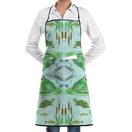 Delantal de chef de cocina ajustable Frog Pond con bolsillo y ...
