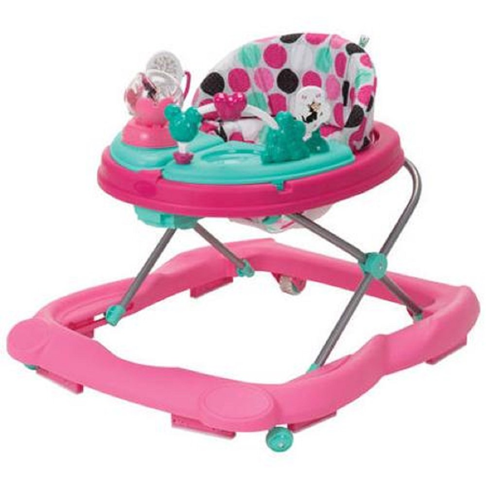 B01DF05GQY Disney Minnie Mouse Pink Dottie, Music and Lights Walker with Activity Tray 61odDMsiREL