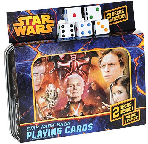 Star Wars SAGA Double Deck of Playing Cards in Tin _ with 5 Bonus Dice by Cartamundi playing cards
