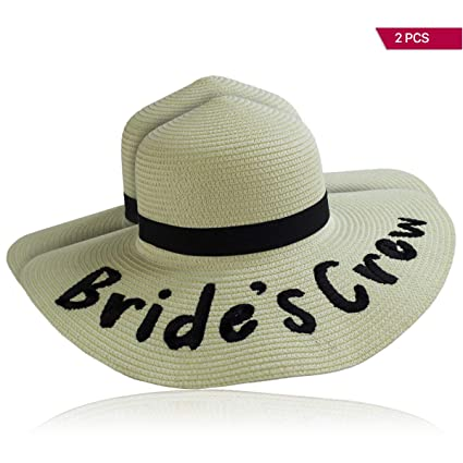 4aedf018adf Image Unavailable. Image not available for. Color  Bride s Crew!  Bachelorette Floppy Sun Hats