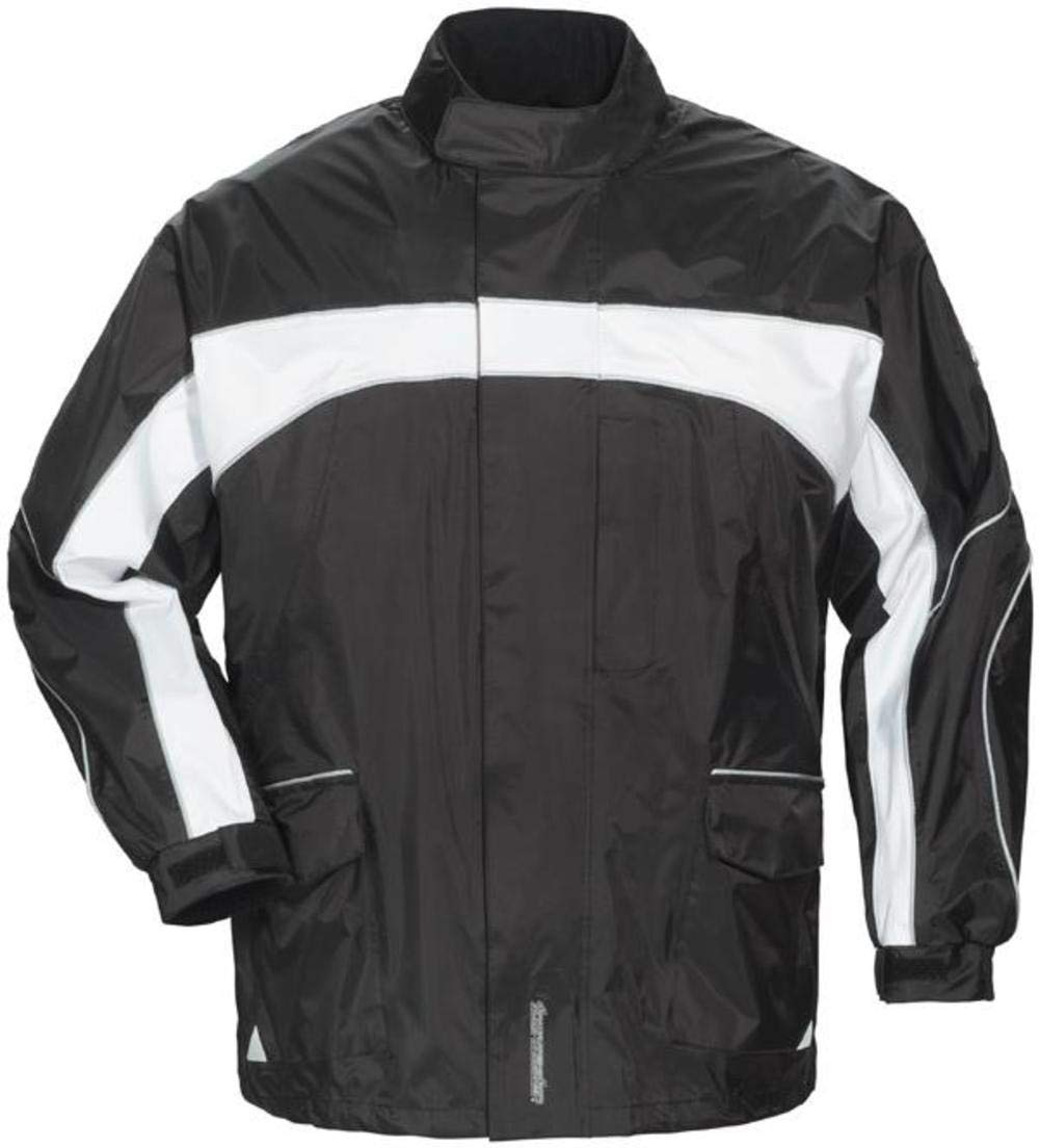 TOURMASTER Elite 3 Rain Motorcycle Jacket Black Bk/wh Size:XXS by Tourmaster