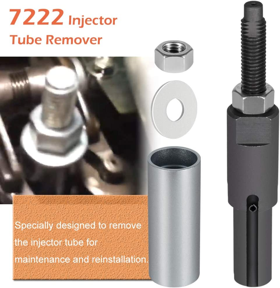 For GM Duramax 6.6L Engine 2001~2011 6778+6779 Injector Puller+7222 Injector Tube Remover//Installer Tool Set Replace OTC//Kent Moore J-44639 J-46594 J45910