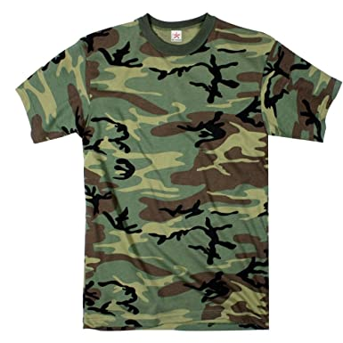 b408d001ff0 Star and Stripes Army Woodland Camouflage t Shirts