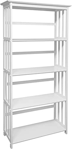 Casual Home Mission Style 5-Shelf Bookcase