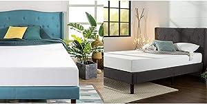 Zinus 8 Inch Green Tea Memory Foam Mattress/CertiPUR-US Certified/Bed-in-a-Box/Pressure Relieving, Queen & Shalini Platform, Queen, Dark Grey