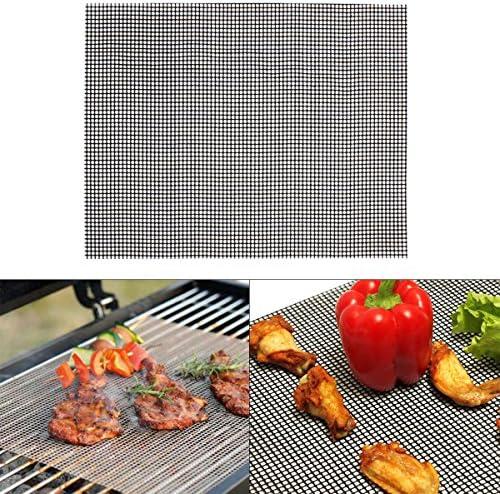 Jaimenalin Tapis de Barbecue RéUtilisable Respectueux de l'environnement de Barbecue Filet de Maille de Gril de Barbecue pour L'Outil de Cuisson ExtéRieur