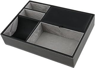 MagiDeal MultifonctionsExquis en Boîte Cuir PU Bijoux et Stockage Noir pour Unisexe