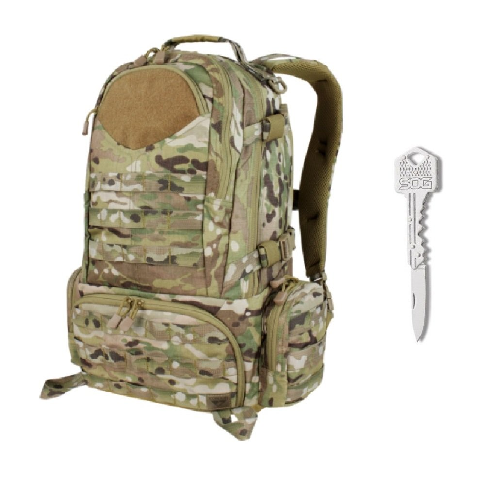 Condor Titan Assault Pack with MultiCam + SOG Lockback Key Knife by Condor Outdoor