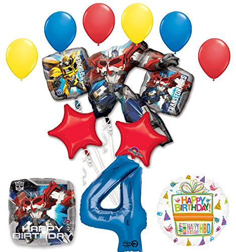Mayflower Products The Ultimate Transformers 4th Birthday Party Supplies Balloon Decorations -