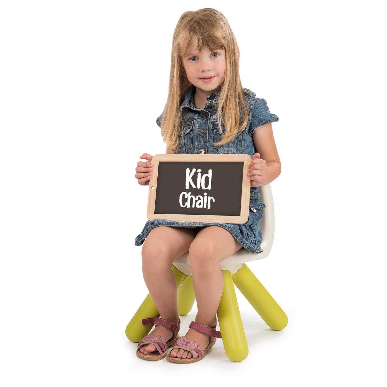 Smoby 880105 Kid con schienale per cameretta dei bambini Sedia per bambini in plastica colore: verde