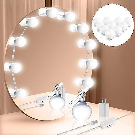 12v Makeup Mirror Vanity Led Light Bulbs Kit Hollywood Bathroom Wall Lamp Adjustable Brightness Make Up Lighting Cosmetic Lights Lights & Lighting